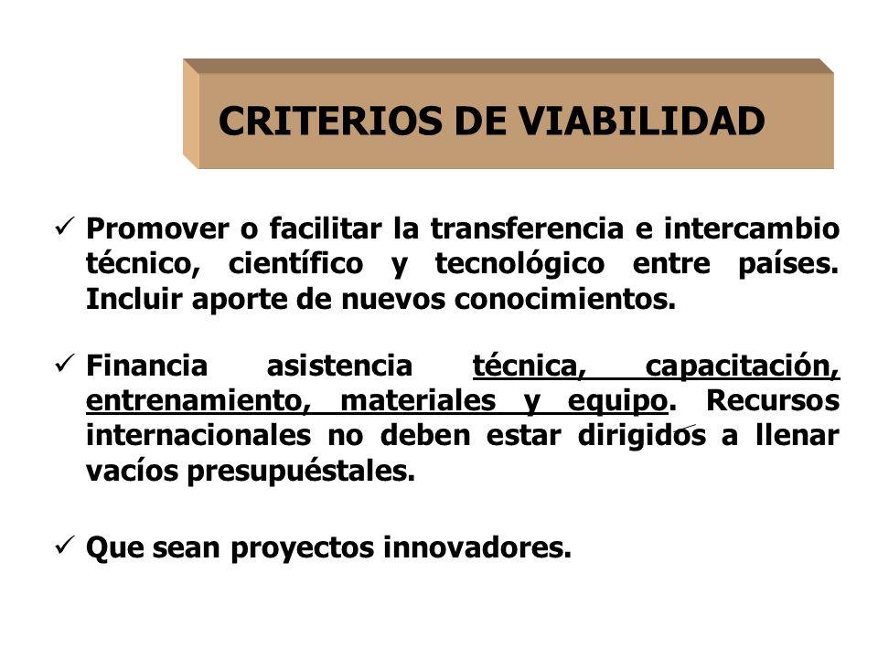 Promover o facilitar la transferencia e intercambio técnico, científico y tecnológico entre países.