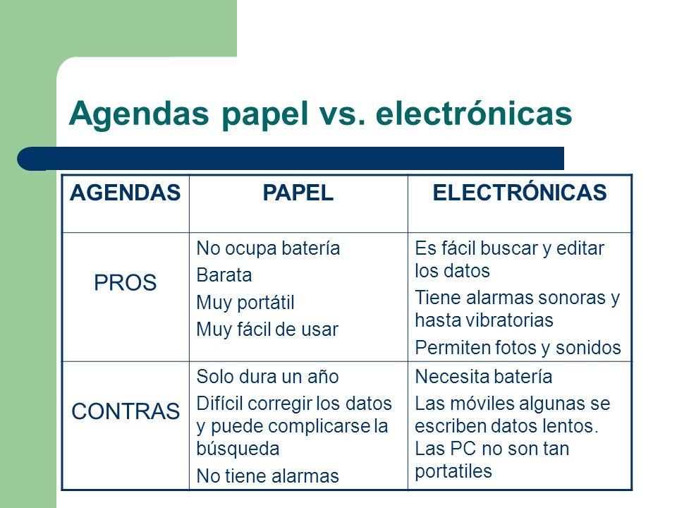 Agendas papel vs.
