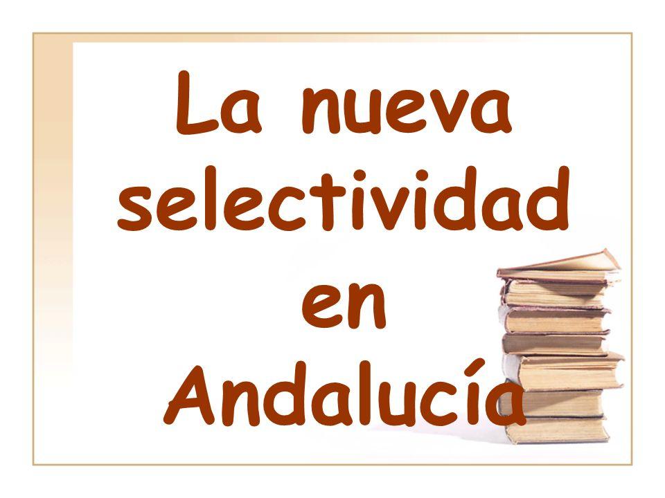 La nueva selectividad en Andalucía