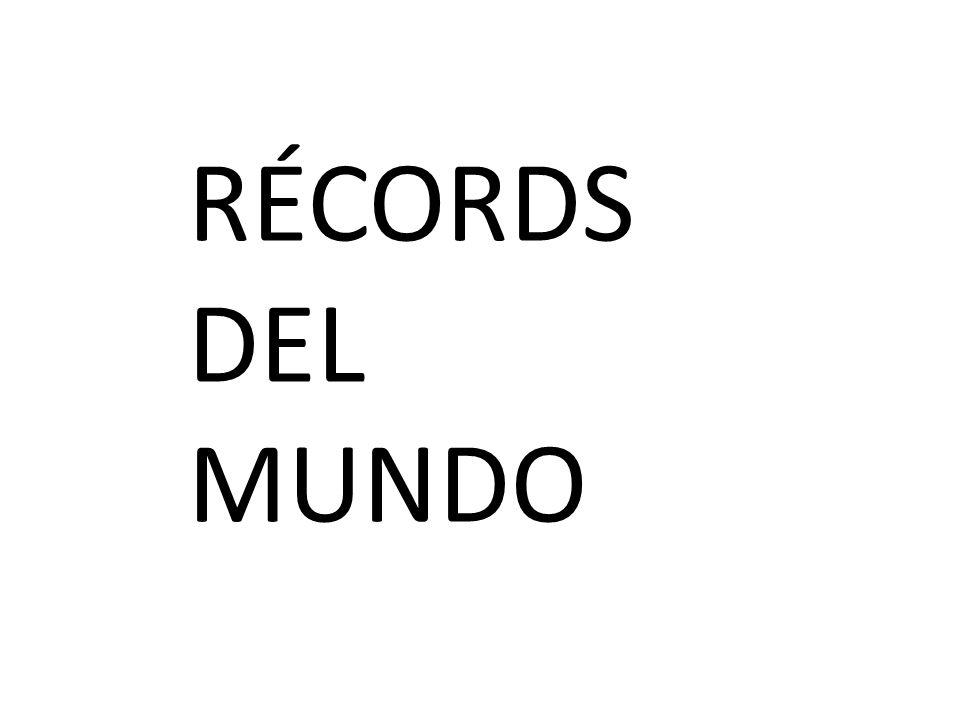 RÉCORDS DEL MUNDO