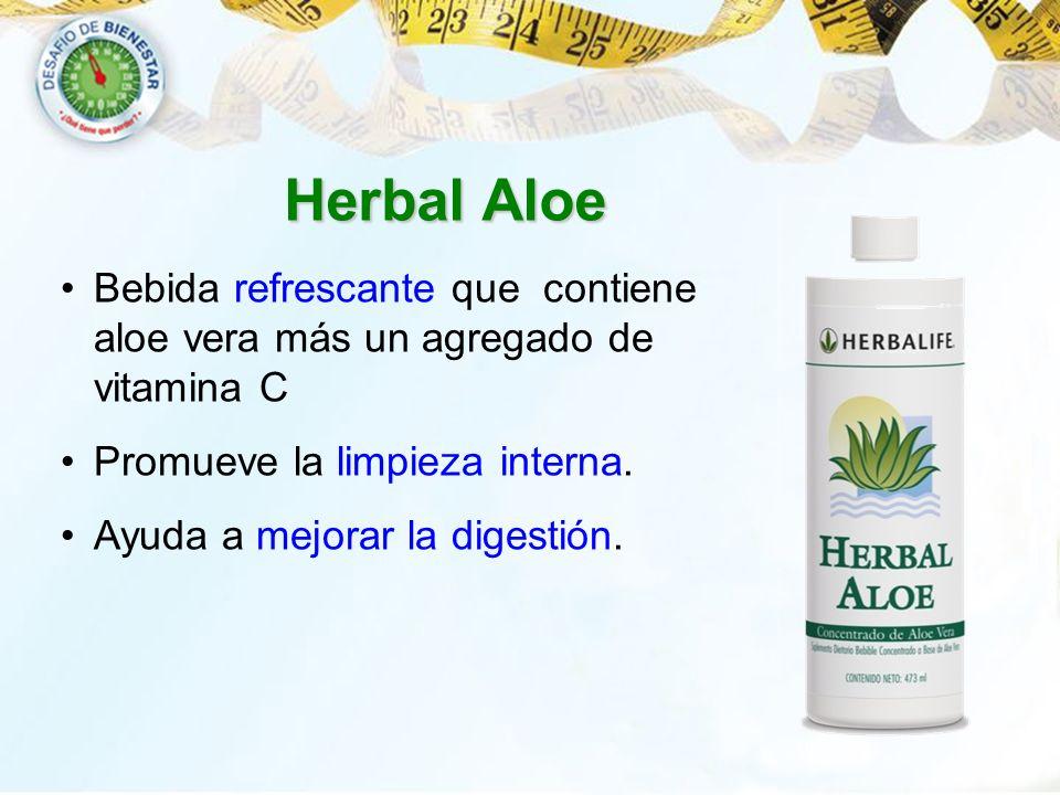 Bebida refrescante que contiene aloe vera más un agregado de vitamina C Promueve la limpieza interna. Ayuda a mejorar la digestión. Herbal Aloe