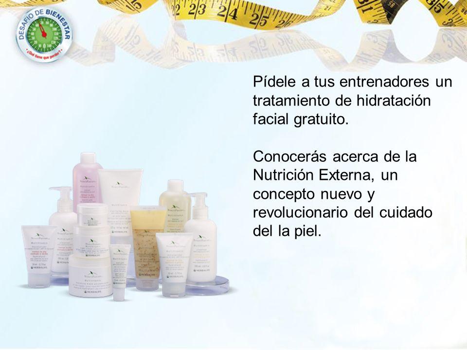 Pídele a tus entrenadores un tratamiento de hidratación facial gratuito. Conocerás acerca de la Nutrición Externa, un concepto nuevo y revolucionario