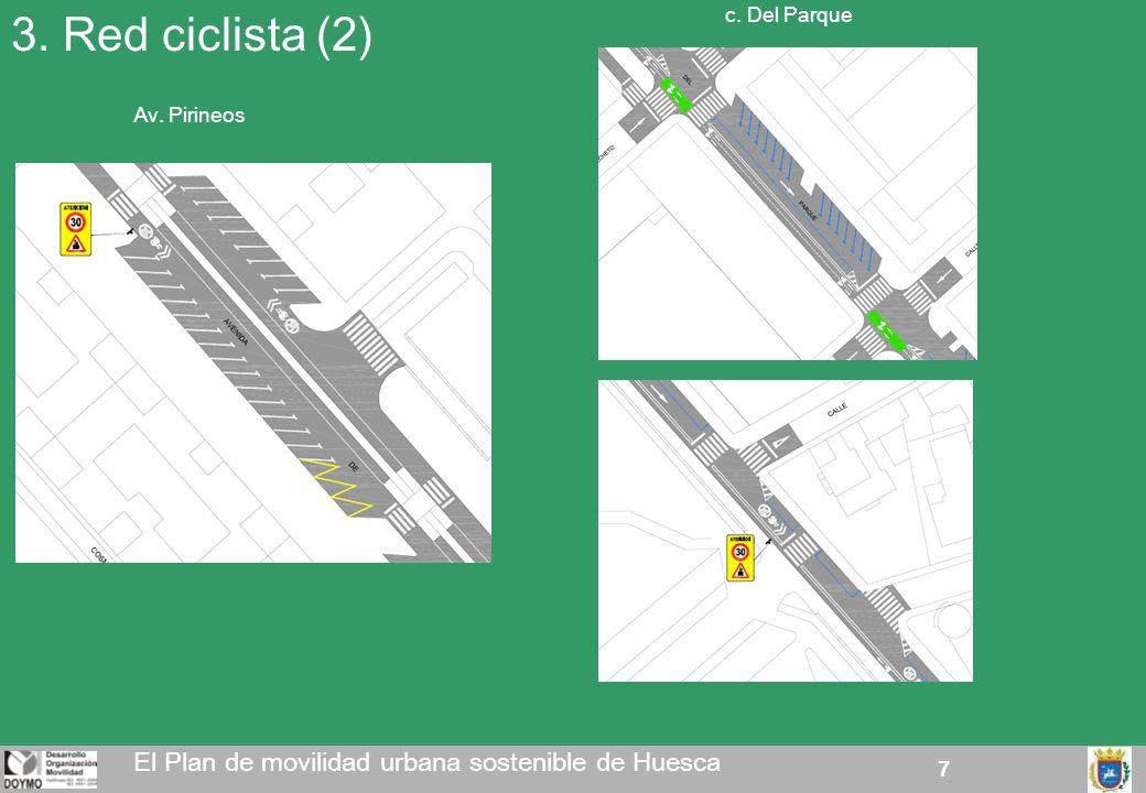 7 3. Red ciclista (2) El Plan de movilidad urbana sostenible de Huesca Av. Pirineos c. Del Parque