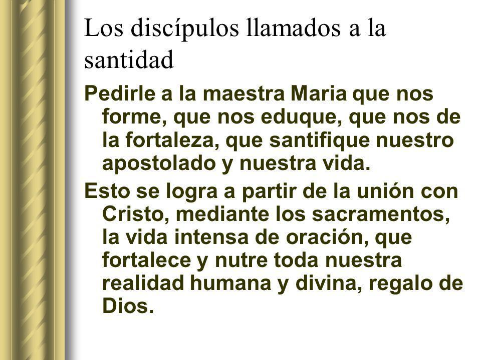 Los discípulos llamados a la santidad La santidad no es otra cosa que: Hacer lo que tenemos que hacer Ofreciendo todo a Dios Y lo que tenemos que hacer es la voluntad de Dios en nuestras vidas.