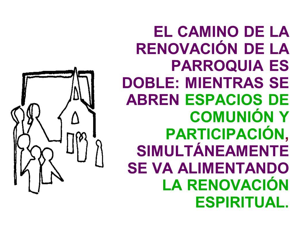 EL CAMINO DE LA RENOVACIÓN DE LA PARROQUIA ES DOBLE: MIENTRAS SE ABREN ESPACIOS DE COMUNIÓN Y PARTICIPACIÓN, SIMULTÁNEAMENTE SE VA ALIMENTANDO LA RENO