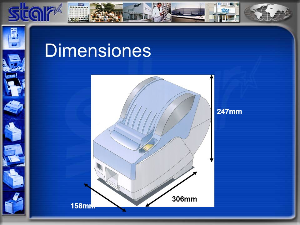 Dimensiones 247mm 306mm 158mm