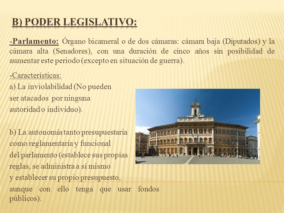 -Características: a) La inviolabilidad (No pueden ser atacados por ninguna autoridad o individuo). b) La autonomía tanto presupuestaria como reglament