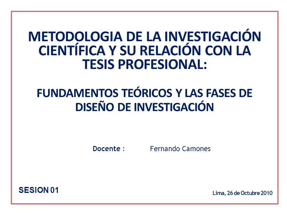 I.Selección y definición del Tema de Investigación.