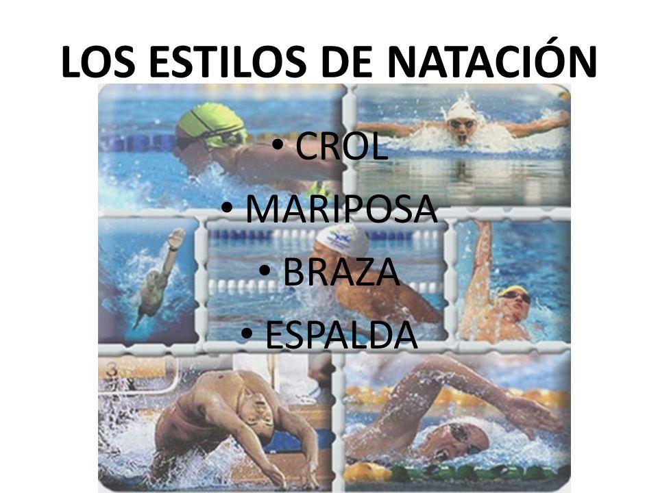 CROL MARIPOSA BRAZA ESPALDA LOS ESTILOS DE NATACIÓN