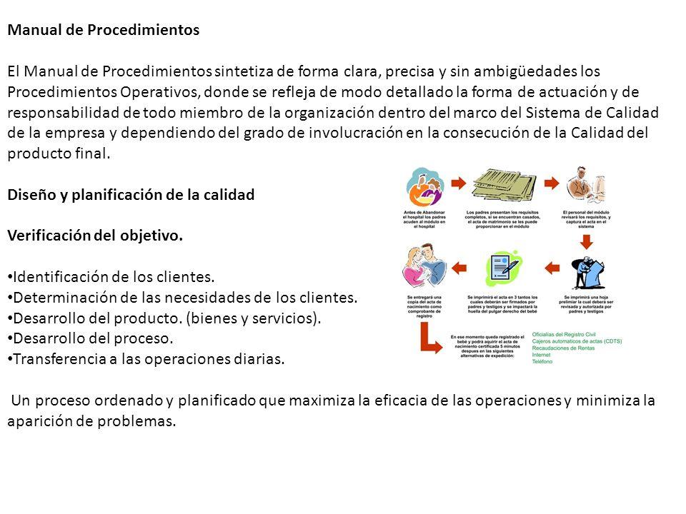 Manual de Procedimientos El Manual de Procedimientos sintetiza de forma clara, precisa y sin ambigüedades los Procedimientos Operativos, donde se refl