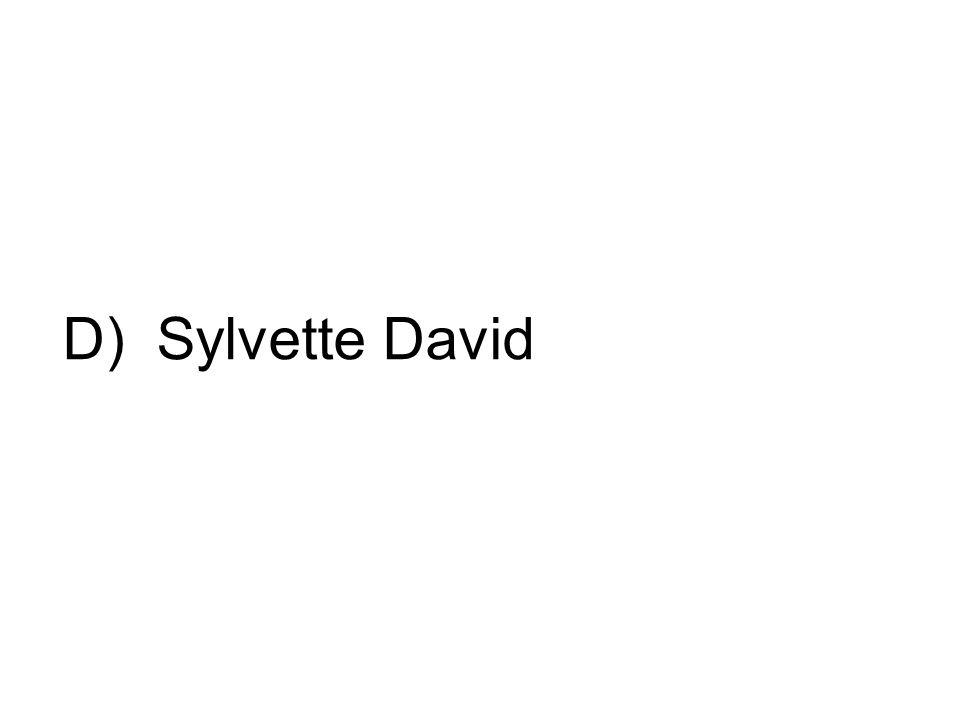 D) Sylvette David