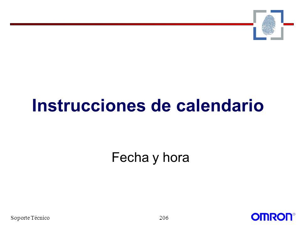 Soporte Técnico206 Instrucciones de calendario Fecha y hora