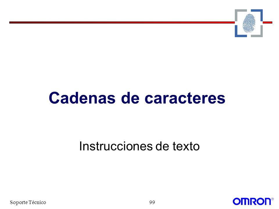 Soporte Técnico99 Cadenas de caracteres Instrucciones de texto