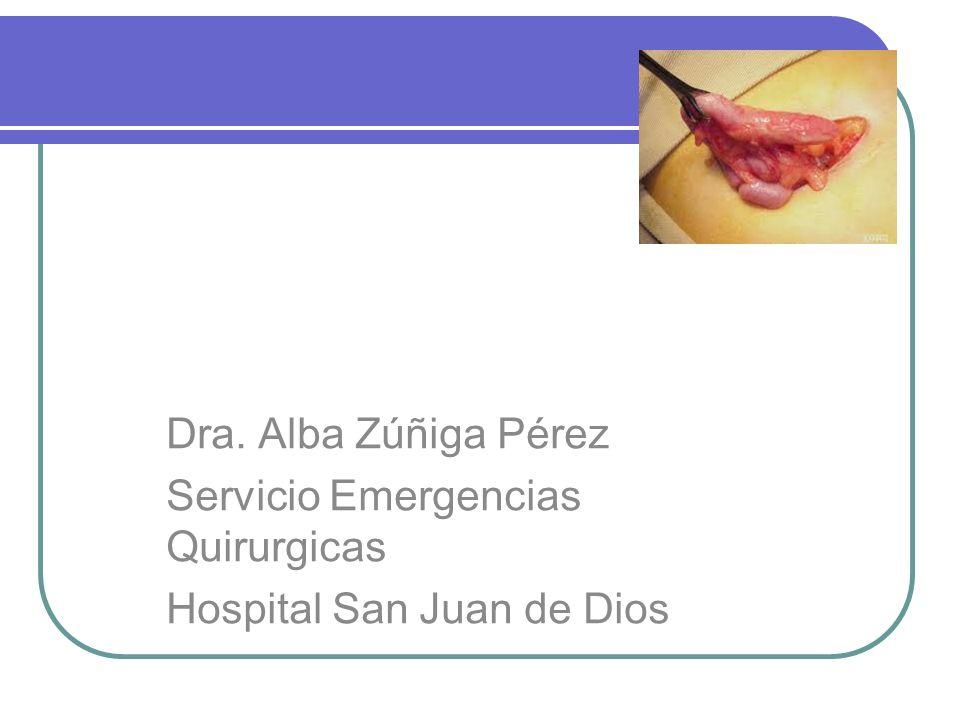Apendicitis Aguda Dra. Alba Zúñiga Pérez Servicio Emergencias Quirurgicas Hospital San Juan de Dios