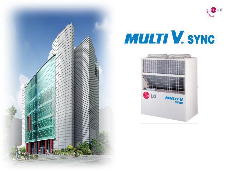 Sistema de Volumen de Refrigerante Variable: Es un Sistema de Aire Acondicionado del tipo Multi-split, de Alta Capacidad, del tipo Volumen de Refrigerante Variable, que se componen de Una unidad Condensadora (exterior) que se une a varias unidades interiores a través de dos o tres tuberías de cobre (dependiendo del sistema) por las cuales circula REFRIGERANTE (que puede ser R-22 (HCFC) o R-410A ecológico).