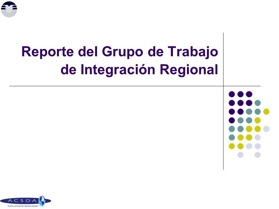 Reporte del Grupo de Trabajo de Integración Regional