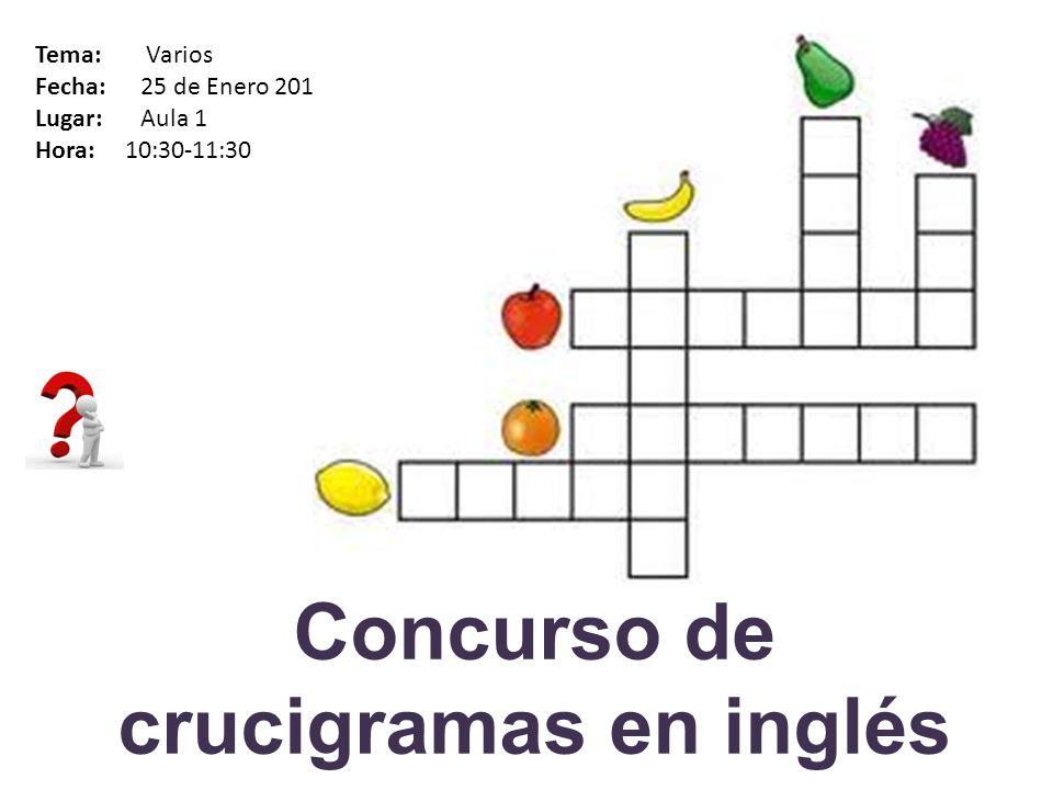 Quiz en francés Tema: Cultura francesa Fecha: 25 de Enero 2013 Lugar: Aula 2 Hora: 10:30-11:30