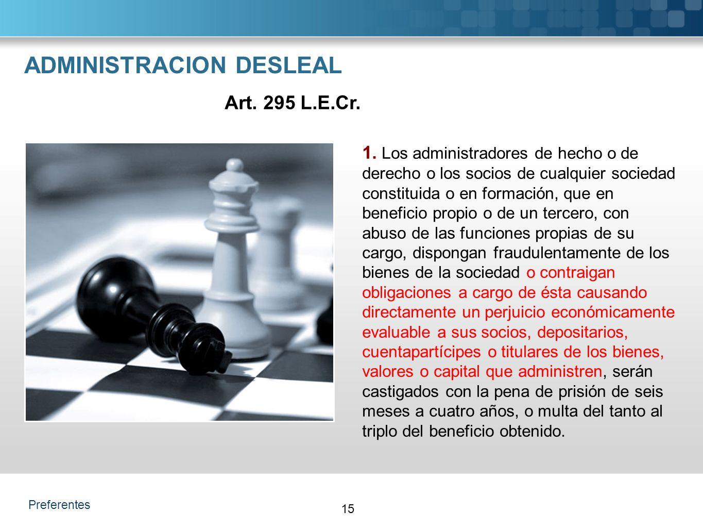 Preferentes ADMINISTRACION DESLEAL 1.