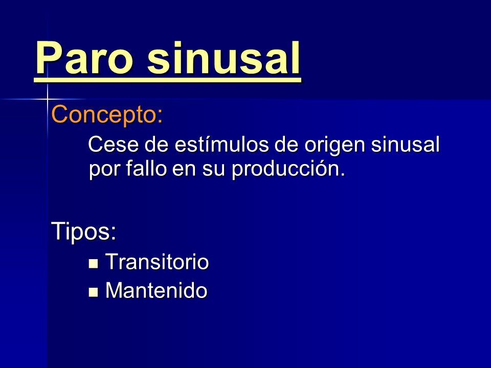 Bradicardia sinusal En general no precisa En general no precisa Si es sintomática Si es sintomática –Etiológico –Farmacológico: Atropina / Isoproteren