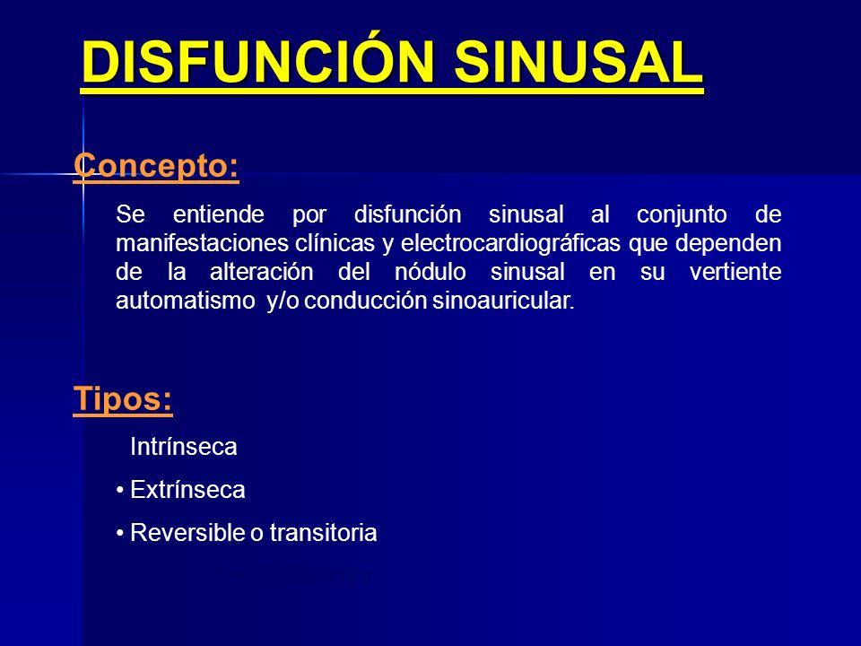 Paro sinusal Tratamiento Va a depender de: 1.Magnitud y sintomatología 1.Causa 2.Contexto Posibilidades 1.Que no precise 2.Etiológico 3.Marcapasos