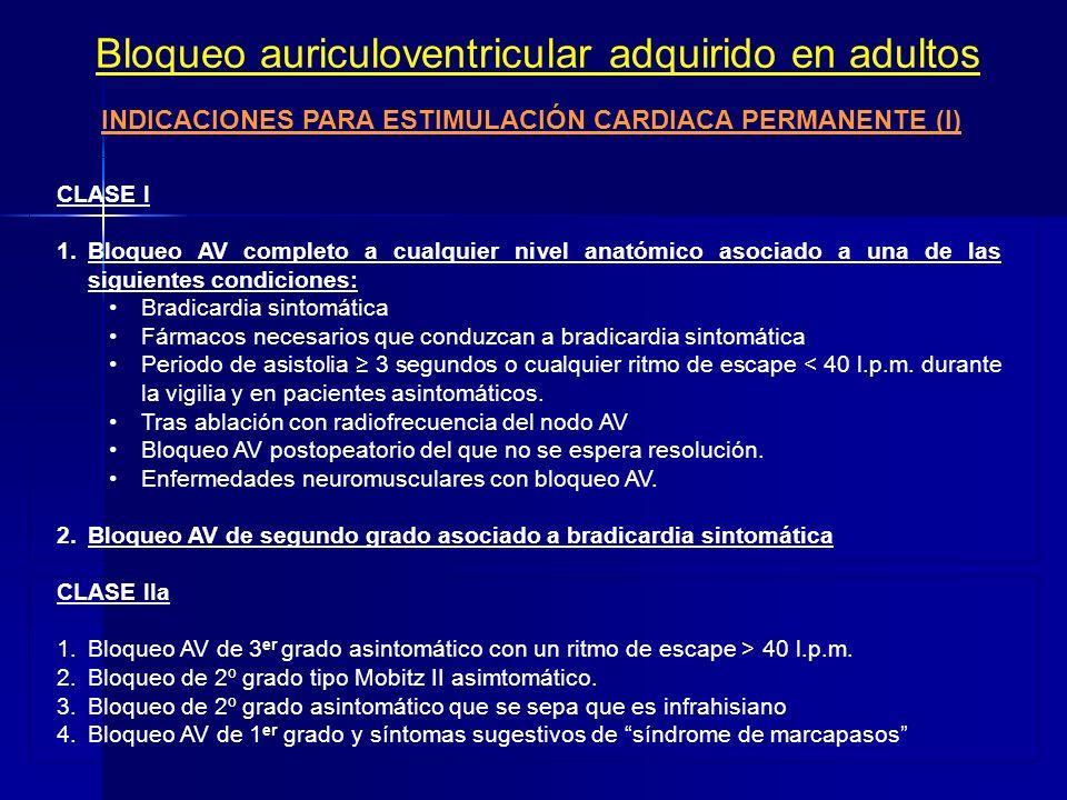 Bloqueo auriculoventricular de 3 er grado: ECG A B