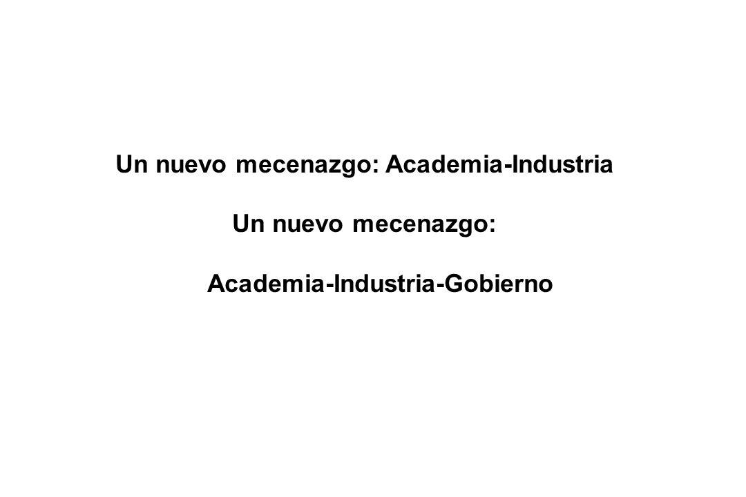 Un nuevo mecenazgo: Academia-Industria Un nuevo mecenazgo: Academia-Industria-Gobierno