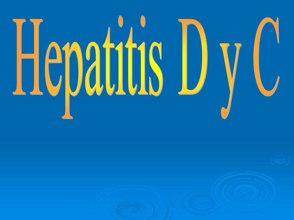 Tratamiento, prevención y control El objetivo del tratamiento de la hepatitis D es la erradicación tanto del virus D como del virus de hepatitis B El objetivo del tratamiento de la hepatitis D es la erradicación tanto del virus D como del virus de hepatitis B El único medicamento recomendado para el tratamiento de la infección por virus de hepatitis D es el interferón alfa El único medicamento recomendado para el tratamiento de la infección por virus de hepatitis D es el interferón alfa Se usa en dosis altas (9 millones de unidades 3 veces por semana) y por períodos prolongados (1 año o más) Se usa en dosis altas (9 millones de unidades 3 veces por semana) y por períodos prolongados (1 año o más)