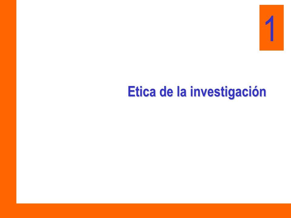 Etica de la investigación 1