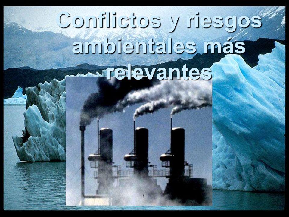 Conflictos y riesgos ambientales más relevantes