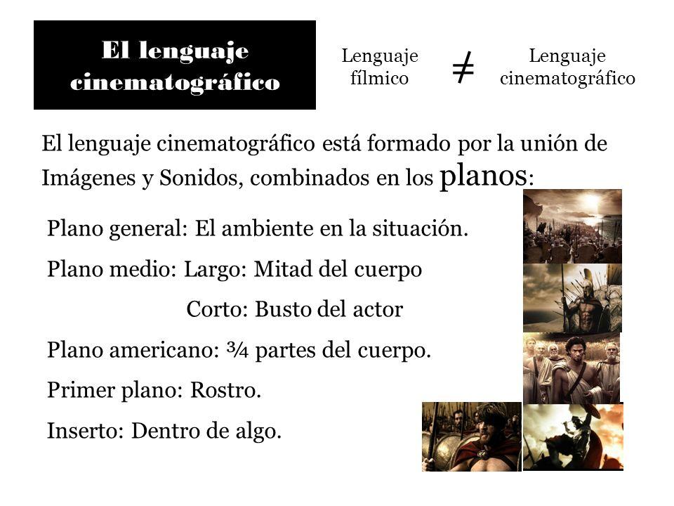 El lenguaje cinematográfico Lenguaje fílmico Lenguaje cinematográfico = El lenguaje cinematográfico está formado por la unión de Imágenes y Sonidos, c