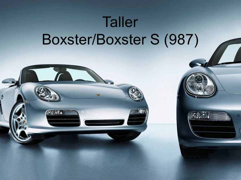 VO4/CB 11/2004 Porsche Acceleration V - Taller Boxster / Boxster S (987) 1 Taller Boxster/Boxster S (987)