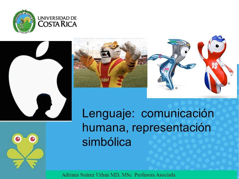 Adriana Suárez Urhan MD, MSc Profesora Asociada Lenguaje: comunicación humana, representación simbólica
