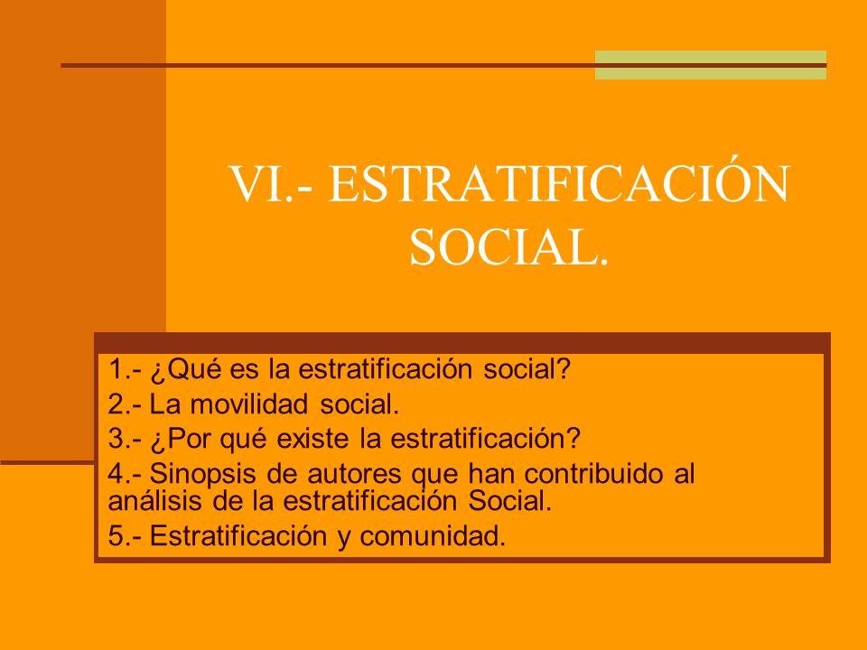 ¿QUÉ ES LA ESTRATIFICACIÓN SOCIAL?
