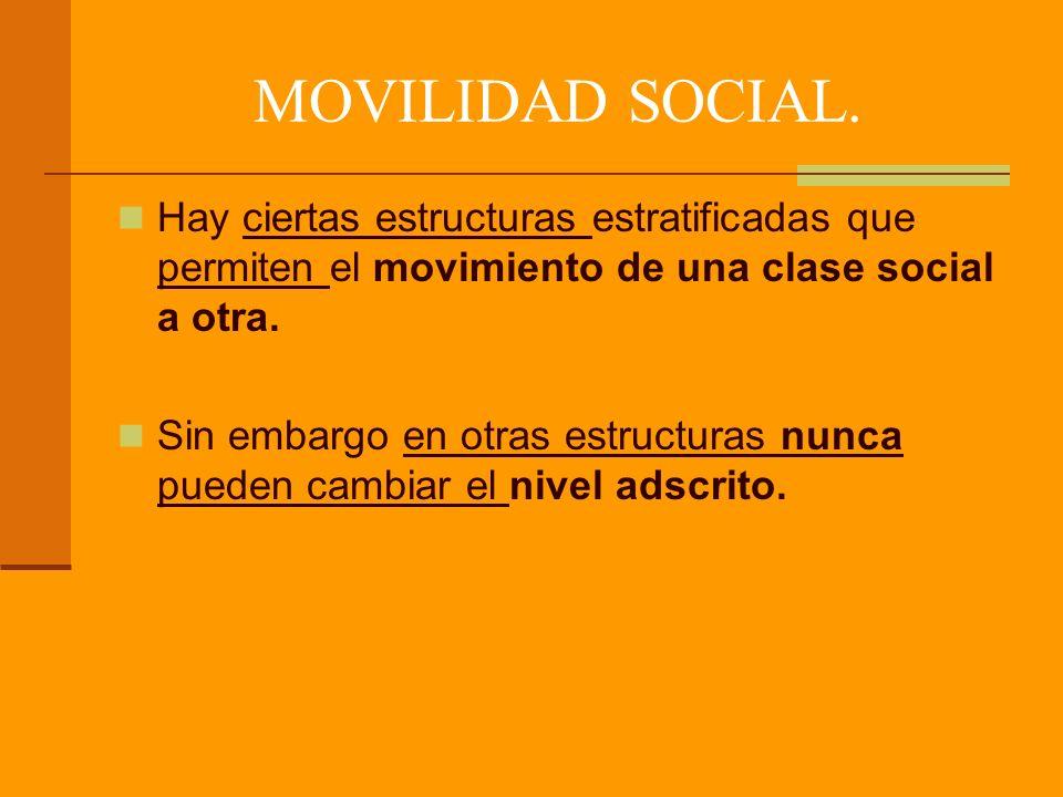 MOVILIDAD SOCIAL.