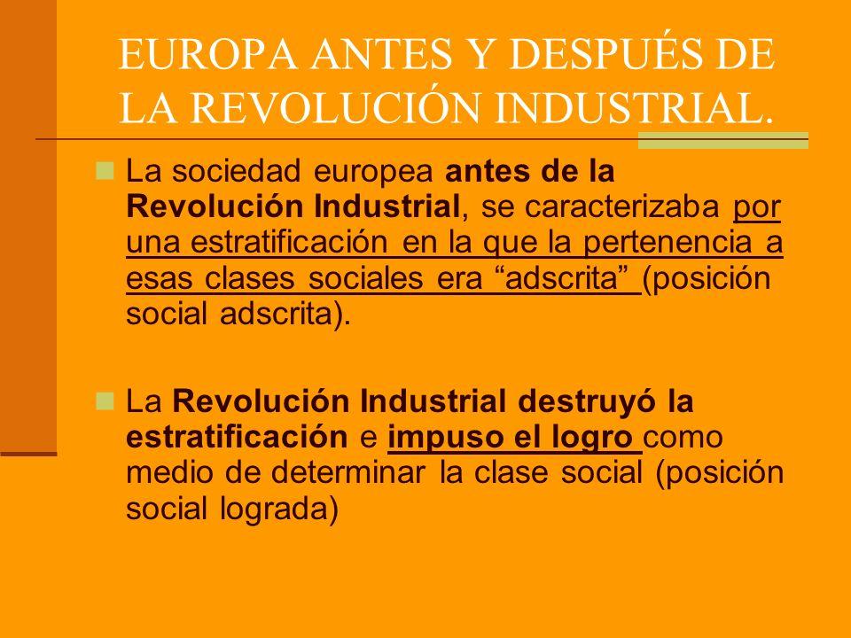 EUROPA ANTES Y DESPUÉS DE LA REVOLUCIÓN INDUSTRIAL.