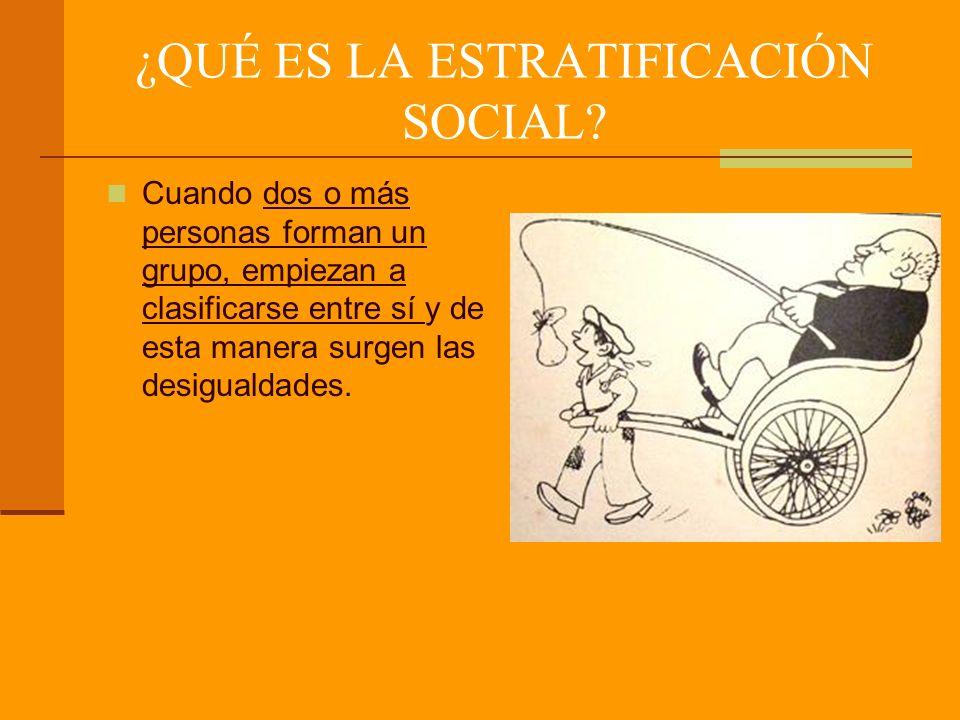 ¿A QUÉ SE REFIERE LA ESTRATIFICACIÓN SOCIAL.
