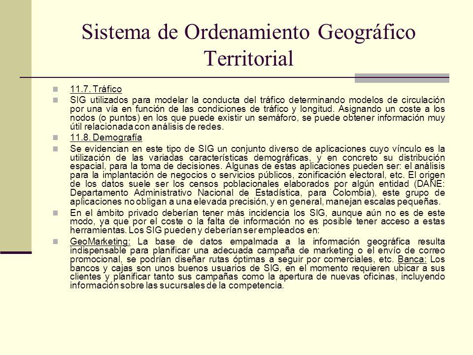 Sistema de Ordenamiento Geográfico Territorial 11.7. Tráfico SIG utilizados para modelar la conducta del tráfico determinando modelos de circulación p