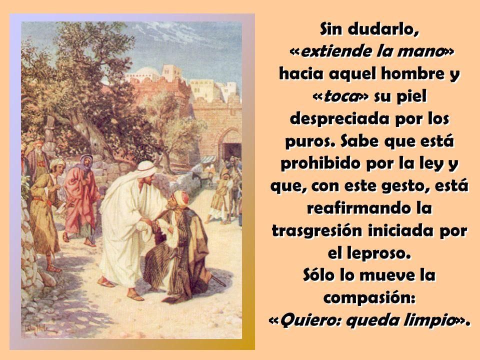 La ternura lo desborda. ¿Cómo no va a querer limpiarlo él, que sólo vive movido por la compasión de Dios hacia sus hijos e hijas más indefensos y desp