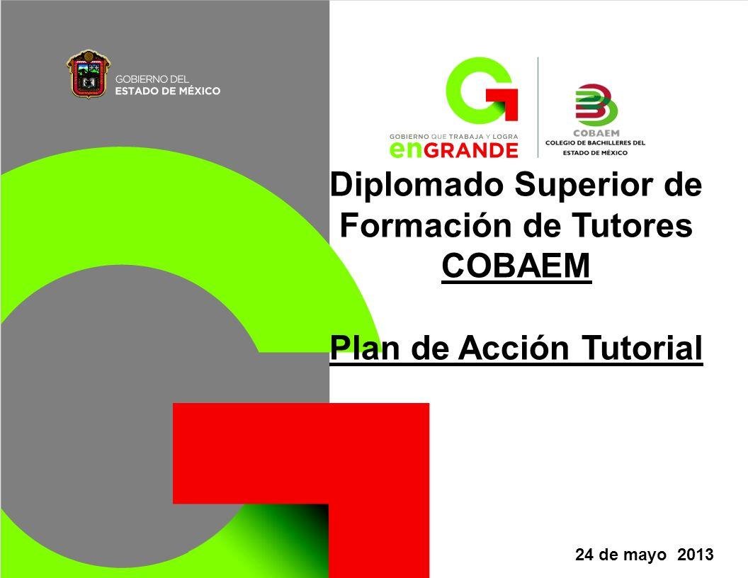 Diplomado Superior de Formación de Tutores COBAEM Plan de Acción Tutorial 24 de mayo 2013