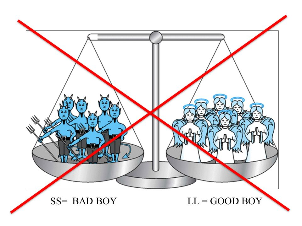 SS= BAD BOY LL = GOOD BOY
