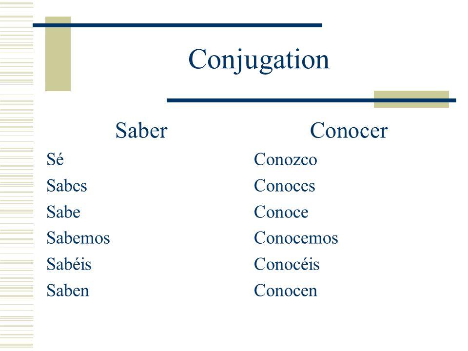 Saber Examples I know the capital of Mexico.Yo sé la capital de Mexico.
