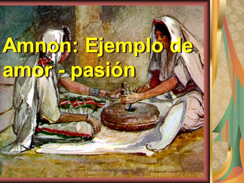 Copyright: Miguel Angel Núñez. Argentina. 2000 El amor como Pasión Pasión: aquello que confunde la razón. La pasión se supone una forma natural de la