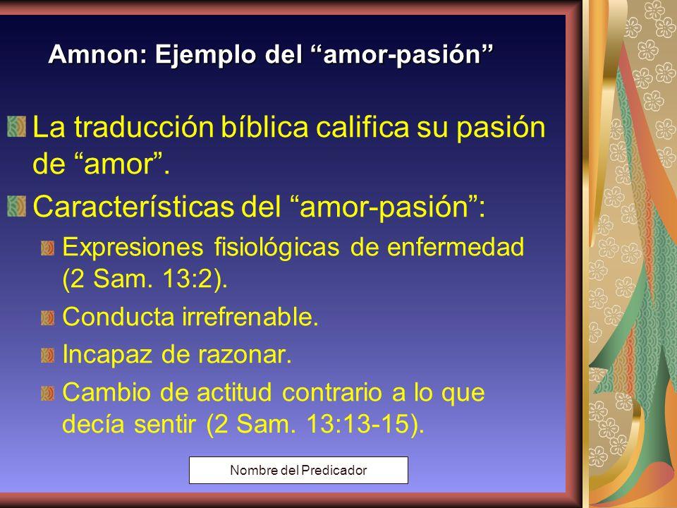 Copyright: Miguel Angel Núñez. Argentina. 2000 Amnon: Ejemplo de amor - pasión