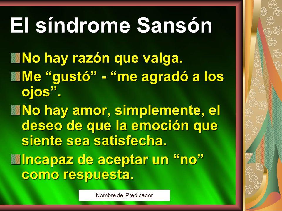 Copyright: Miguel Angel Núñez. Argentina. 2000 El síndrome de Sansón