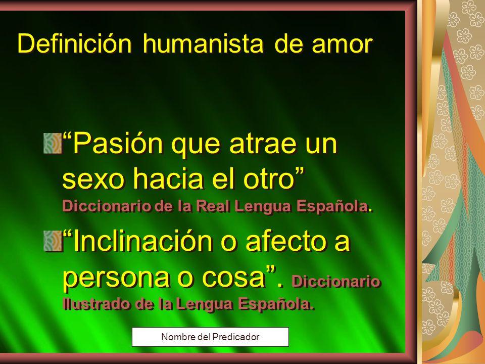 Copyright: Miguel Angel Núñez. Argentina. 2000 Amor Vs. Pasión Amor Vs. Pasión Nombre del Predicador