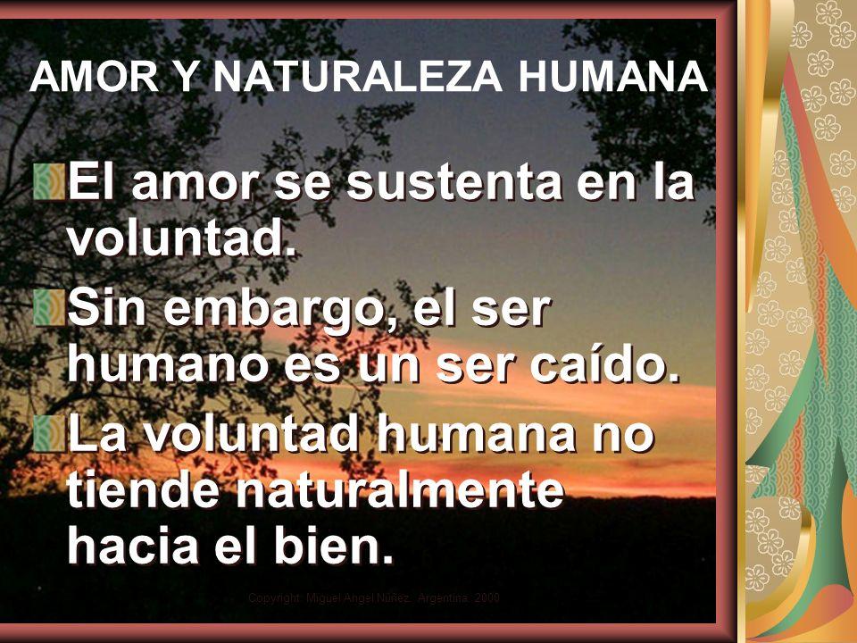 Copyright: Miguel Angel Núñez. Argentina. 2000 Amar y naturaleza humana No hay justo, ni aun uno (Rom 3:10) No hay justo, ni aun uno (Rom 3:10)