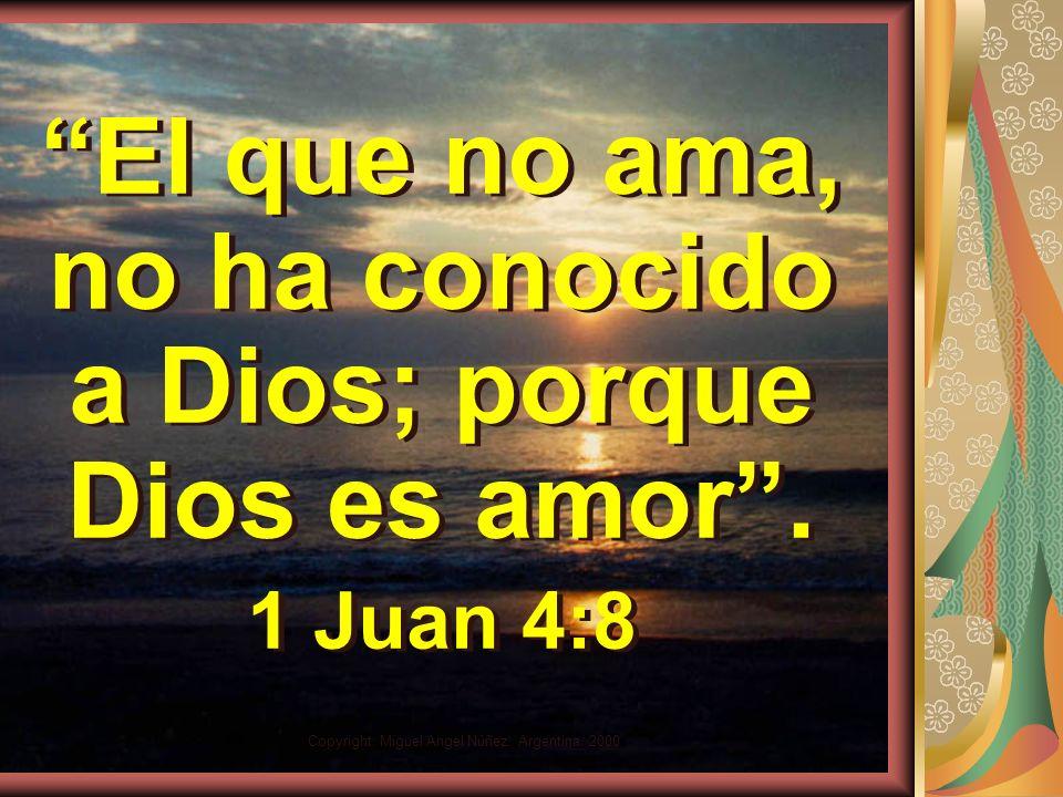 Copyright: Miguel Angel Núñez. Argentina. 2000 Conversión y amor Sin conversión no hay amor real posible. Sólo quién viva una vida de entrega a Dios e
