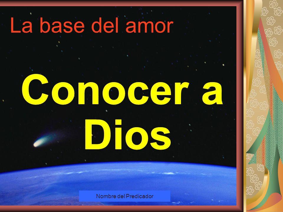Copyright: Miguel Angel Núñez. Argentina. 2000 El que no ama, no ha conocido a Dios; porque Dios es amor. 1 Juan 4:8 El que no ama, no ha conocido a D