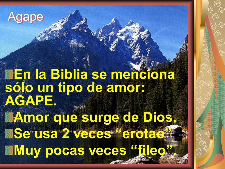Copyright: Miguel Angel Núñez. Argentina. 2000 Tipos de amor Algunos suelen decir que esto es sólo posible para el Amor de Dios. Griegos tres tipos de