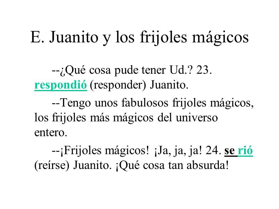 E.Juanito y los frijoles mágicos Pero Juanito 25.